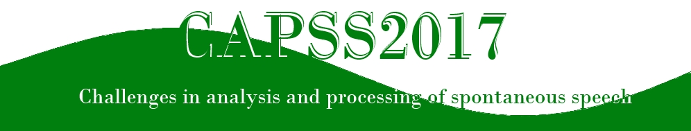 CAPSS – Challenges in Analysis and Processing of Spontaneous Speech